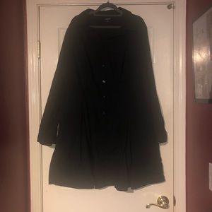 TORRID black button up shirt dress